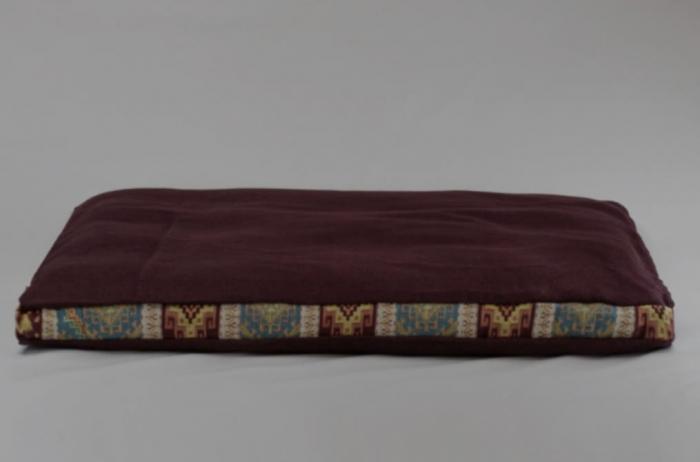 Perna meditatie Zabutan Tibet Bordo cu husa detasabila 87x77x8 cm + Meditatie cadou [0]