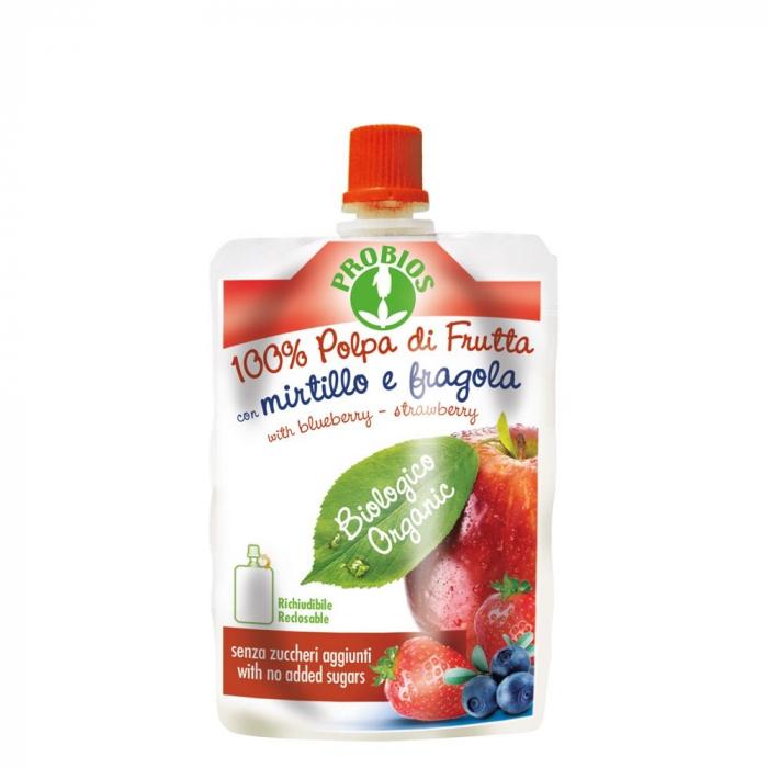 Piure de fructe fara zahar - mere, afine, capsuni 100g [0]