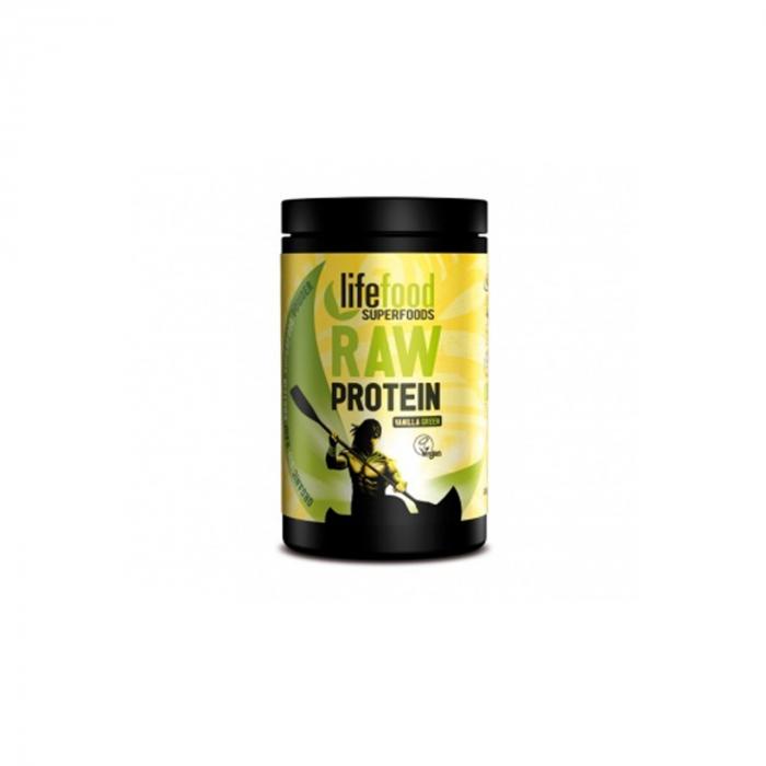 Pudra Proteica Green Vanilla Superfood Raw Bio Fara Gluten 450G [0]