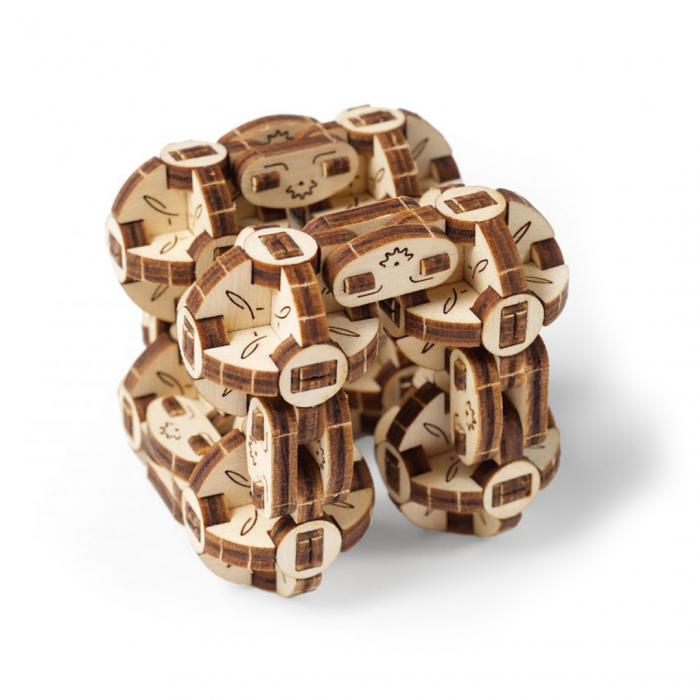 Puzzle 3D din lemn - Flexi Cubs [0]