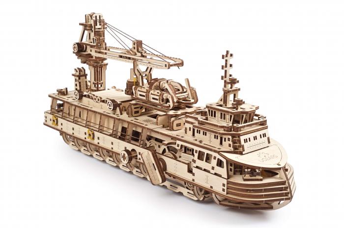 Puzzle 3D din lemn - Model Nava de cercetare [0]