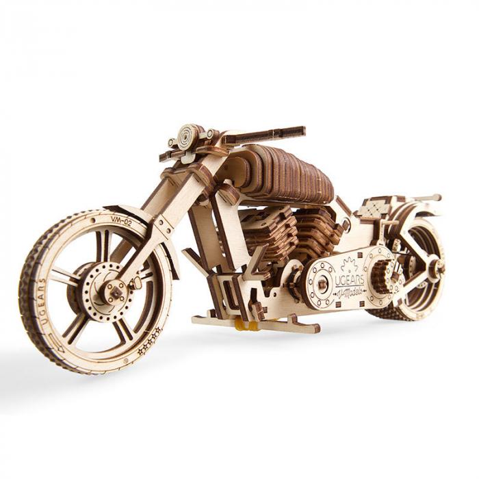 Puzzle 3D din lemn - Motocicleta VM-02 [0]