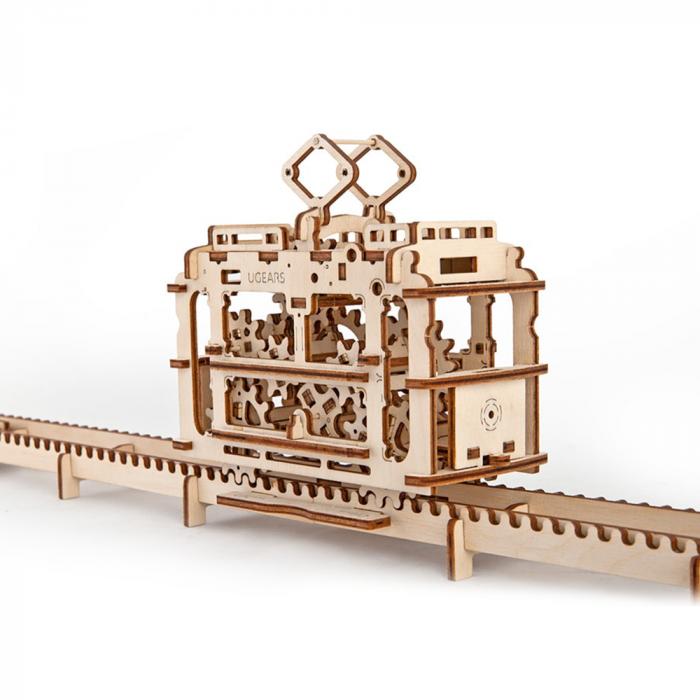 Puzzle 3D din lemn - Tramvai 154 de piese [0]