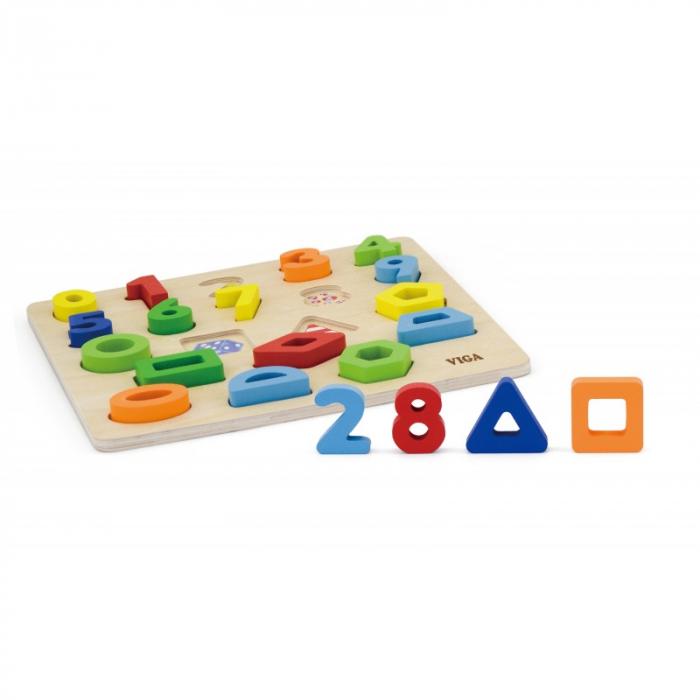 Puzzle 3D Numere si forme [3]