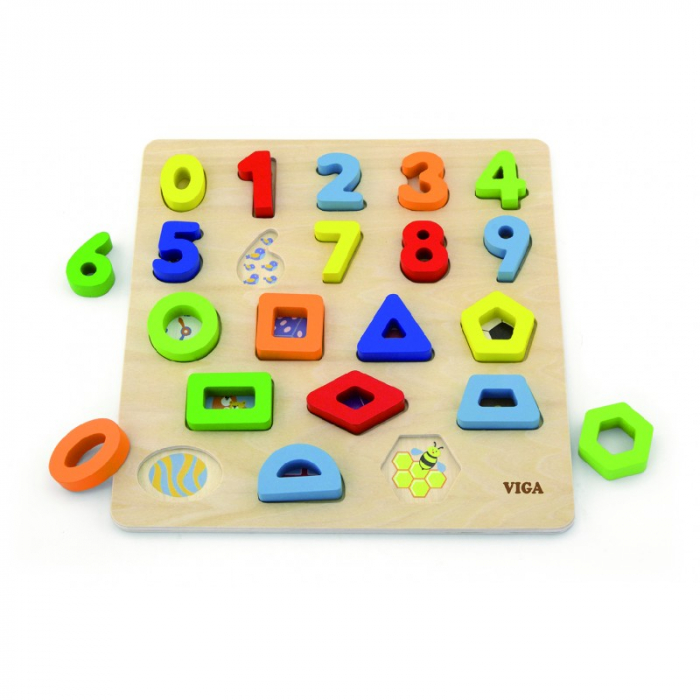 Puzzle 3D Numere si forme [0]