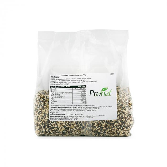 Quinoa 3x - amestec BIO de quinoa (neagra, rosie si alba), 400g [2]