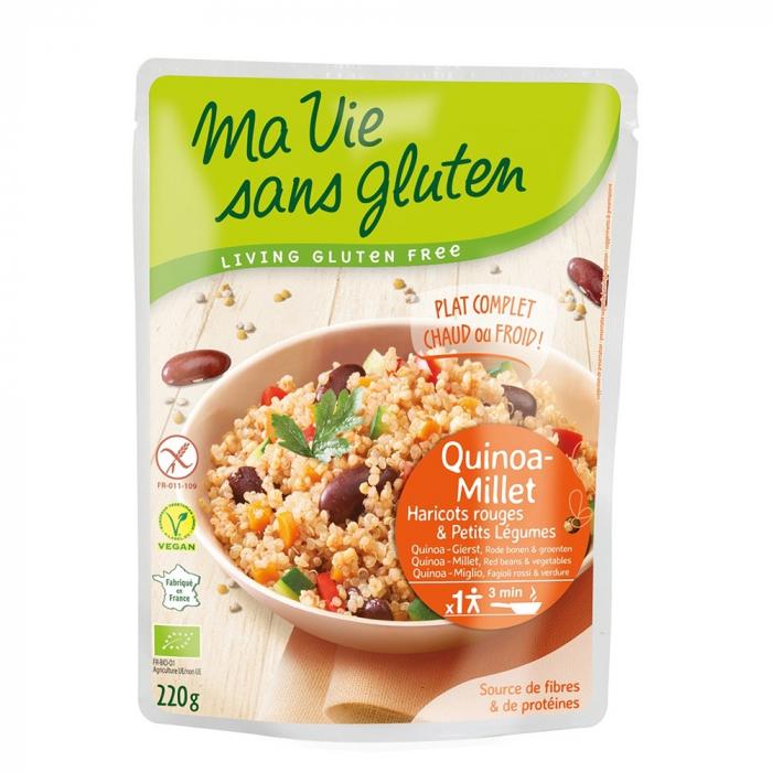 Quinoa si mei cu legume - fara gluten gata preparat 220g [0]