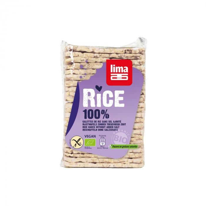 Rondele subtiri rentagulare din orez expandat fara sare BIO FARA GLUTEN 130g [0]