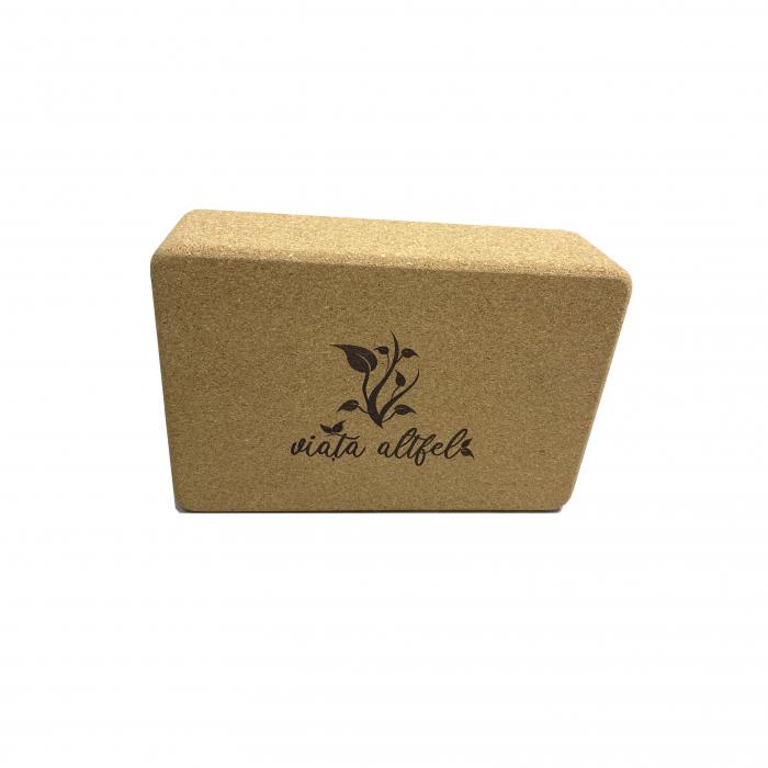 Yoga Block din pluta naturala 23x15x7cm [2]