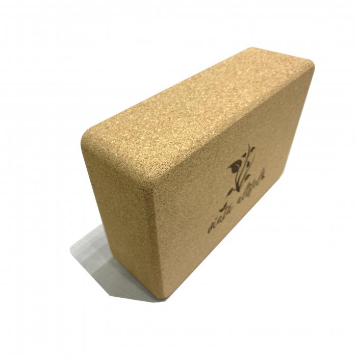 Yoga Block din pluta naturala 23x15x7cm [1]
