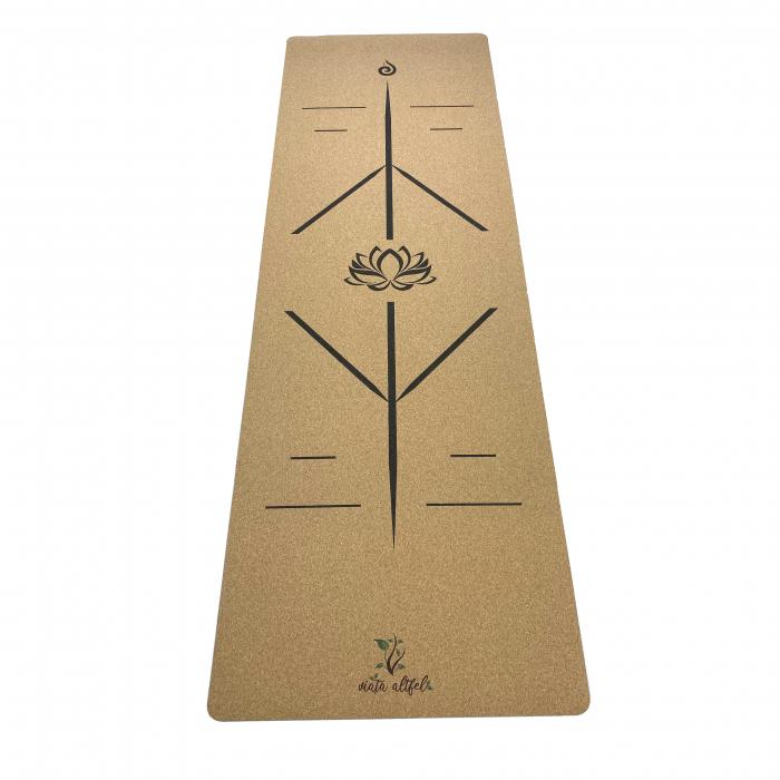 Saltea Yoga din pluta naturala Lotus 1830 x 610 x 4mm [0]