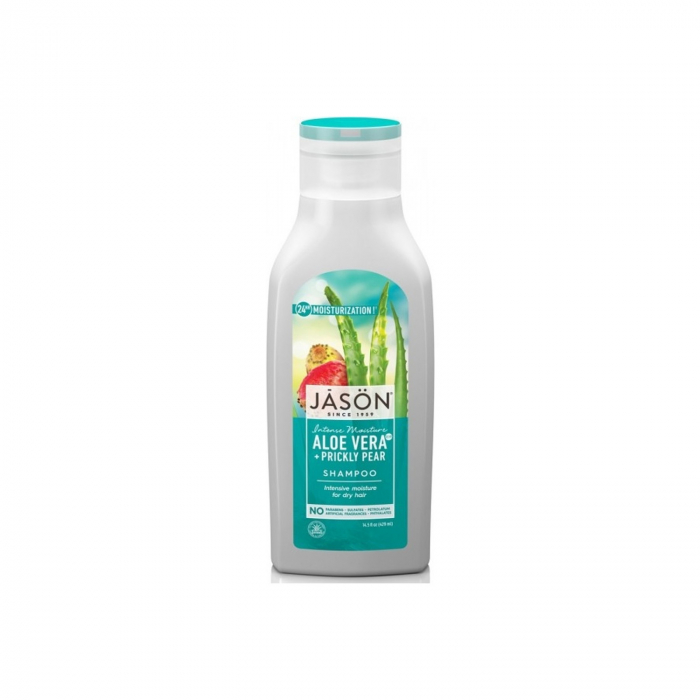 Sampon hidratant cu aloe vera 80% si fruct de cactus, pentru par uscat, 473 ml [0]