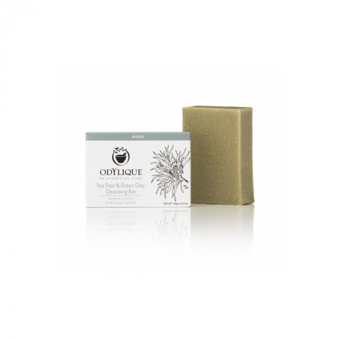 Sapun cu tea tree si argila verde, Odylique 100g [0]