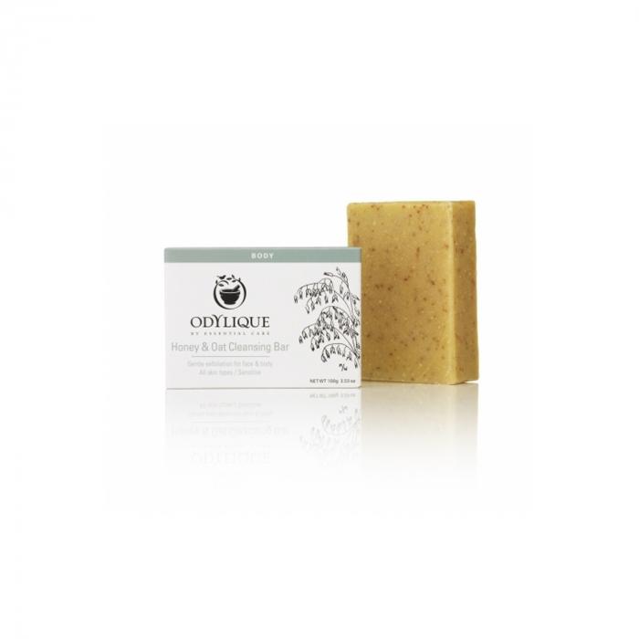 Sapun exfoliant cu miere si ovaz, pt. fata si corp, Odylique 100g [0]