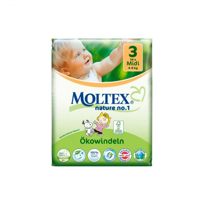 Scutece ECO pentru bebelusi (4-9kg), nr. 3, pachet 34 buc [0]