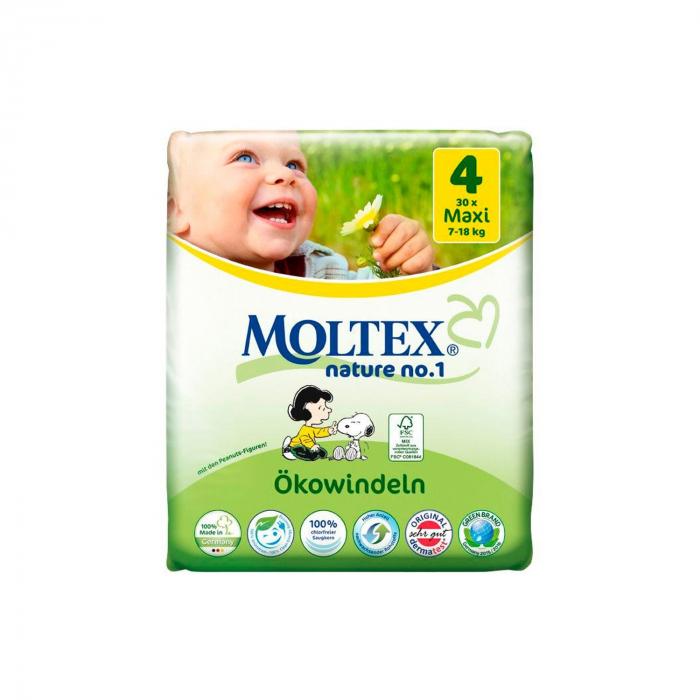 Scutece ECO pentru bebelusi (7-18kg), nr. 4, maxi, pachet 30 buc [0]
