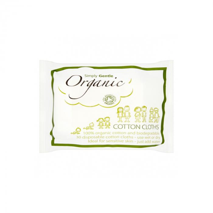 Servetele de bumbac uscate/umede, organice, 30 buc [0]