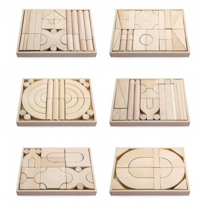 Set 6 modele blocuri arhitecturale de construit, natur, 158 buc [0]