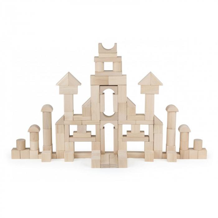 Set cuburi de construit 100 buc natur (3cm) [0]