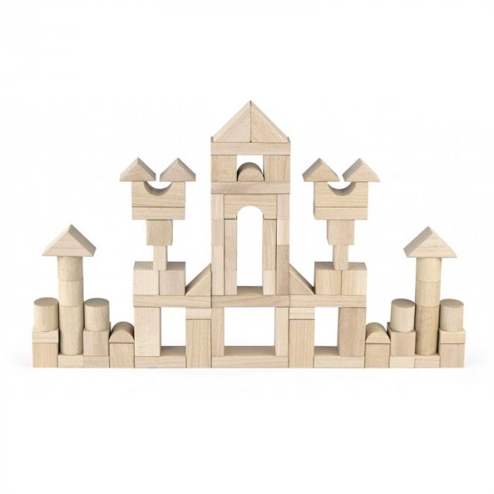 Set cuburi de construit Jumbo, 75 buc natur (3,5 cm) [0]