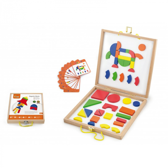 Set magnetic - forme geometrice din lemn cu cutie [1]