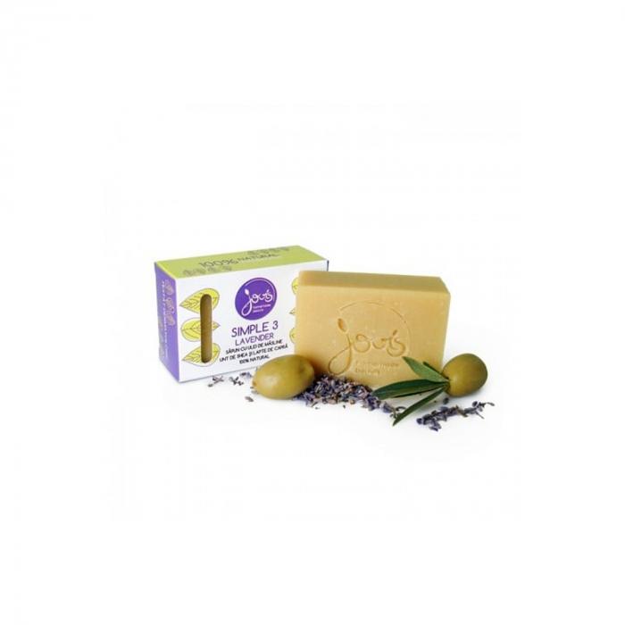 Simple 3- sapun cu masline, unt de shea si lapte de capra - Lavander [0]