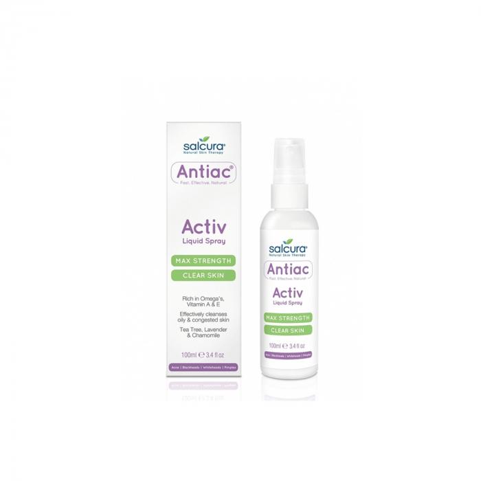 Spray antiac, fata si corp, pt. curatarea pielii congestionate cu vitamina A si E, Salcura 100 ml [0]