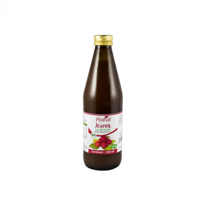 Suc de acerola 100%, BIO, 330 ml Medicura [0]
