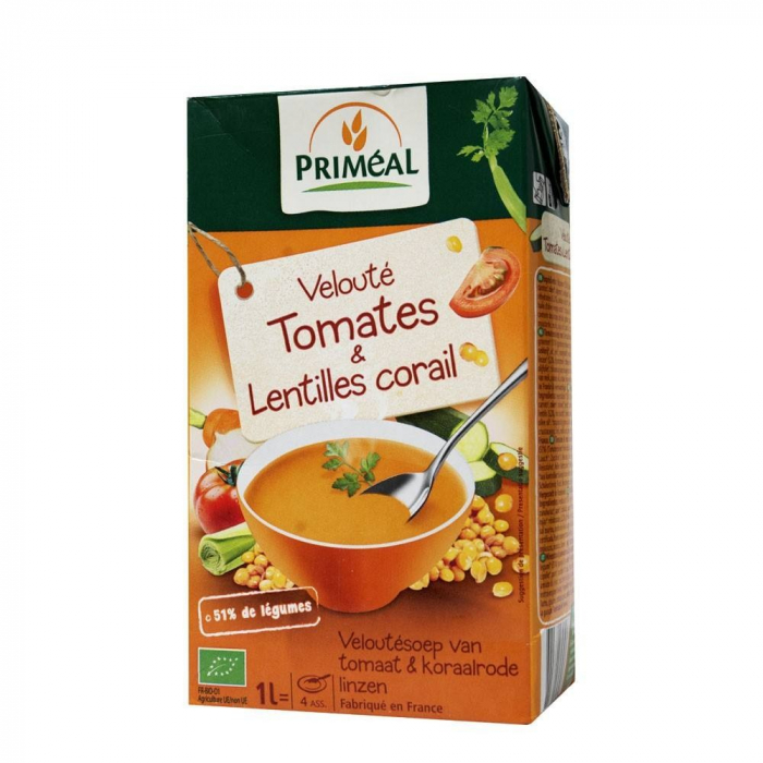 Supa crema cu rosii si linte rosie 1L [0]
