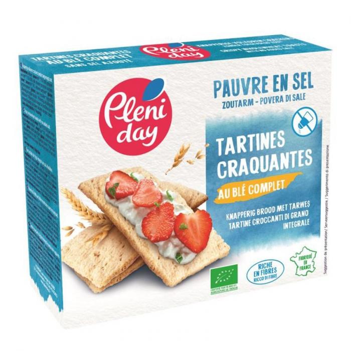 Tartine crocante din grau integral fara sare 150g [0]