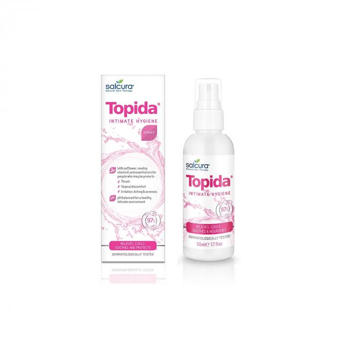 Topida - spray tratament pt igiena intima, infectii fungice, reglare Ph, Salcura, 50 ml [0]