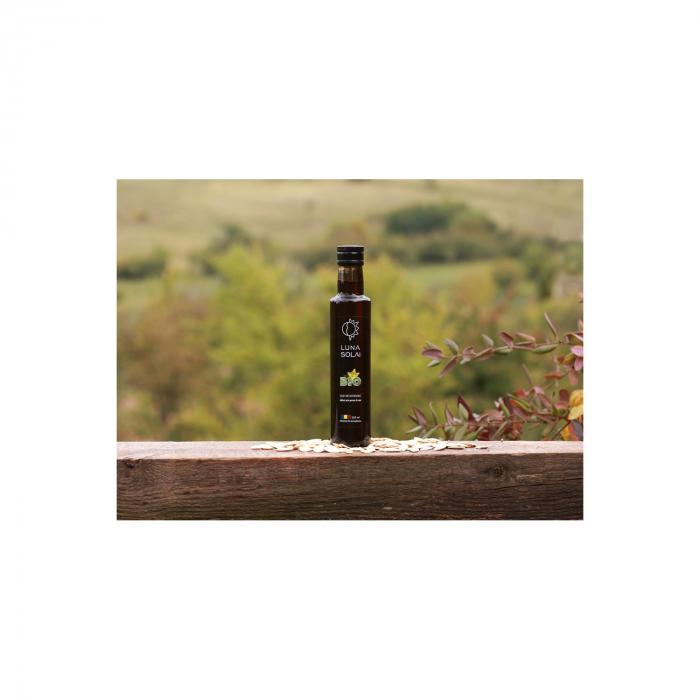Ulei de dovleac presat la rece Luna Solai – sticla olive 250 ml [1]