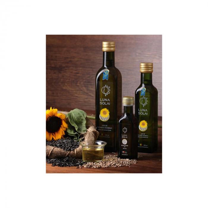 Ulei de floarea soarelui presat la rece Luna Solai – sticla olive 500 ml [0]