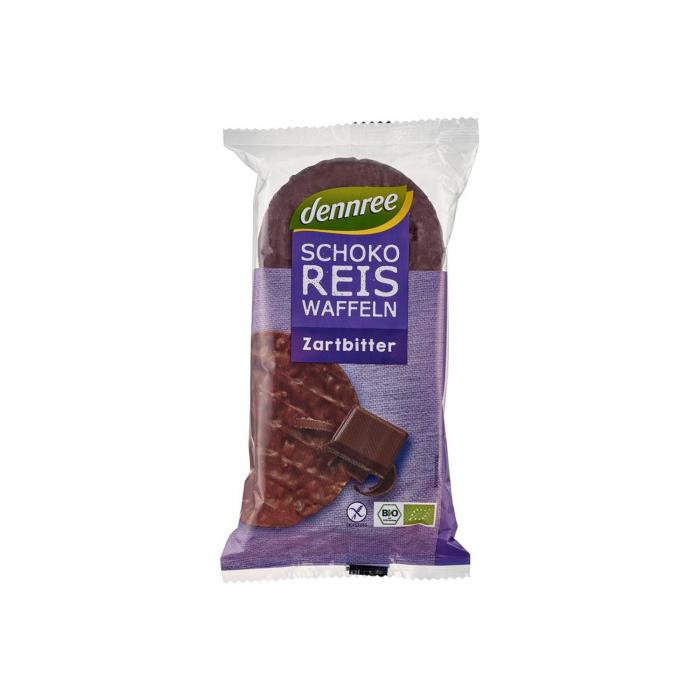 Vafe BIO din orez expandat cu ciocolata BIO Dennree 100g [0]