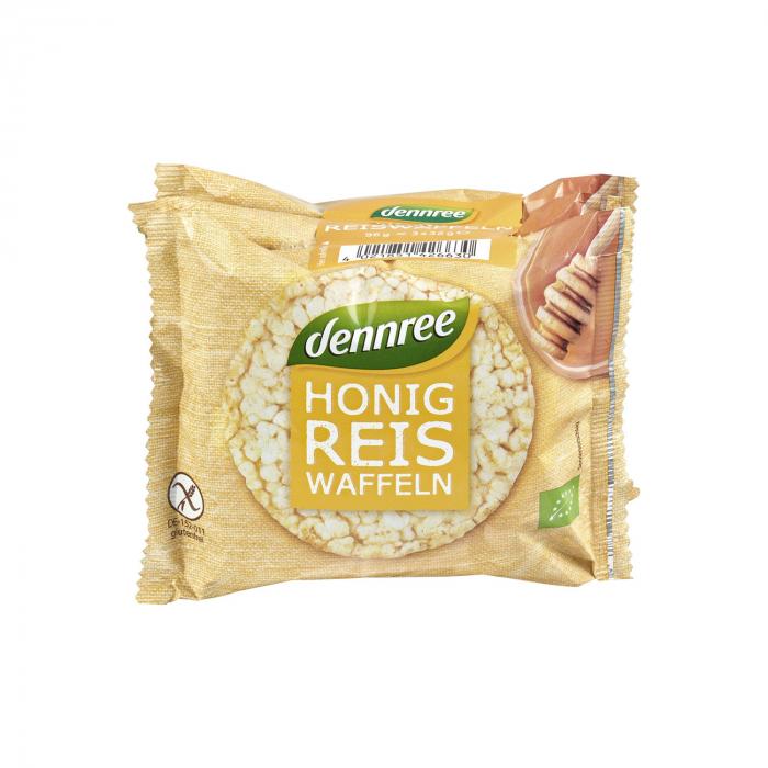 Vafe din orez cu miere FARA GLUTEN Dennree 96g [0]