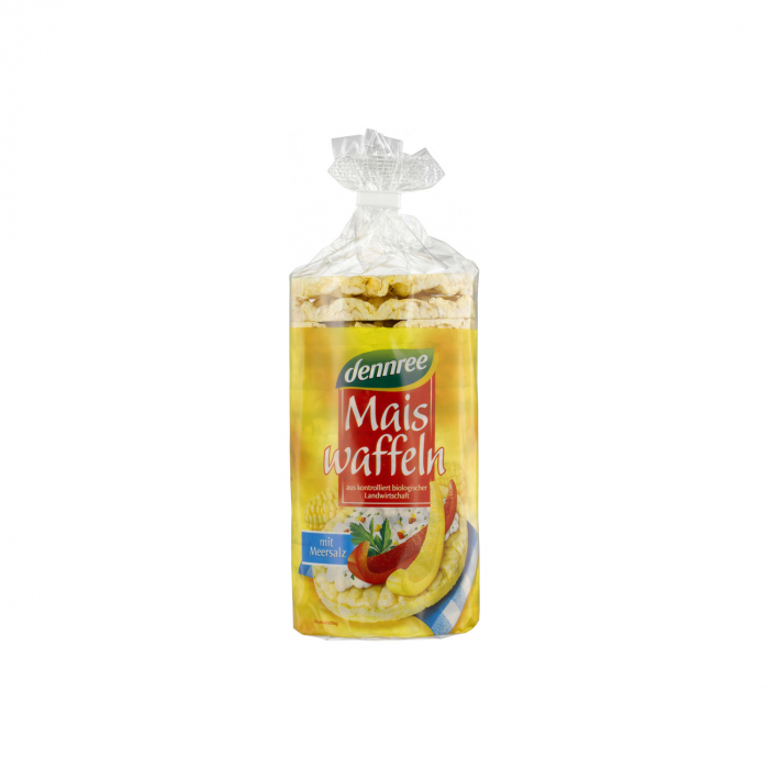 Vafe din porumb expandat cu sare fara gluten Dennree 120g [0]