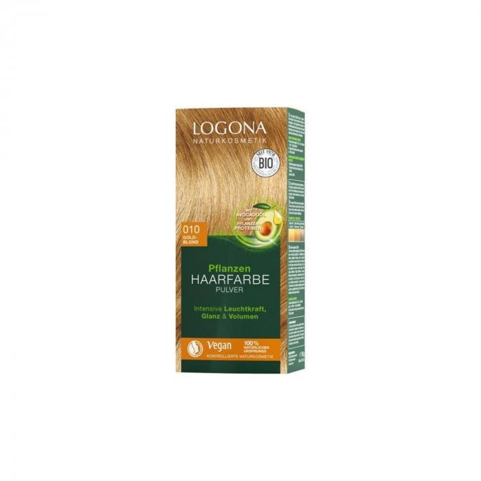 Vopsea de par 100% Naturala, 100 g blond auriu - nuanta 010 [0]
