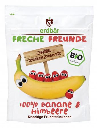 Banane si zmeura BIO dezhidratate pentru copii  16g