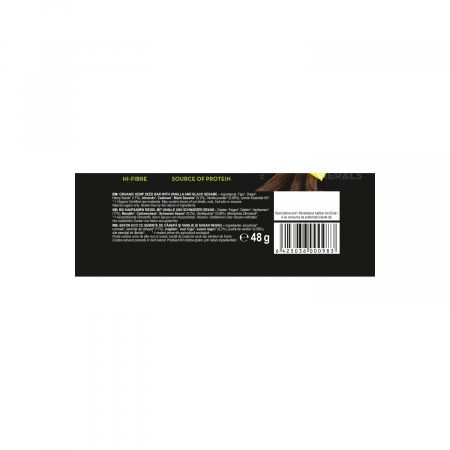 Baton din seminte de canepa cu vanilie & susan ECO 48gr  [2]