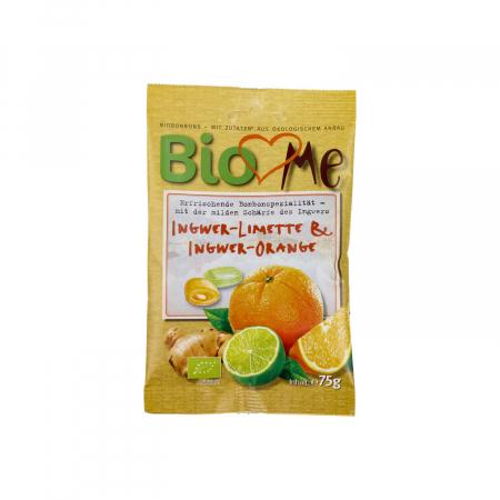 Bomboane BIO cu ghimbir-lime si ghimbir-portocala BIO Loves Me 75g [0]