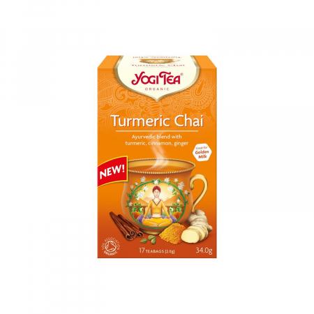 Ceai BIO cu turmeric (curcuma), 17 pliculete - 34 g Yogi Tea [0]