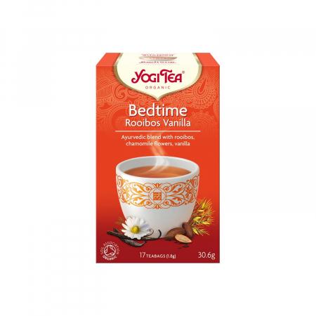 Ceai BIO de seara cu rooibos si vanilie, 17 pliculete - 30.6gr Yogi Tea