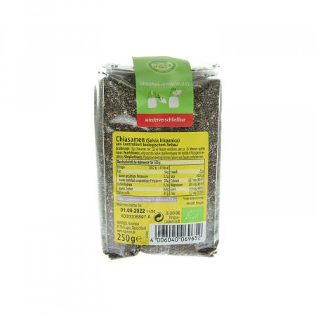 Chia seminte ecologice Rapunzel 250g [1]
