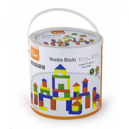 Cuburi de construit din lemn, colorate, 3.5 cm, 50 buc [4]