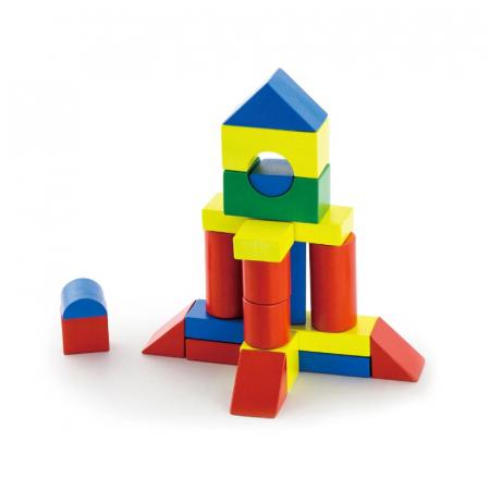 Cuburi de construit din lemn, colorate, 3.5 cm, 50 buc [2]