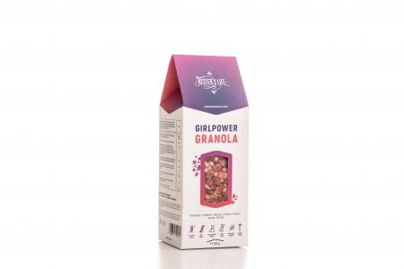 Girlpower Granola cu fulgi de ovaz crocant si zmeura, fara zahar adaugat si fara gluten 320g [2]