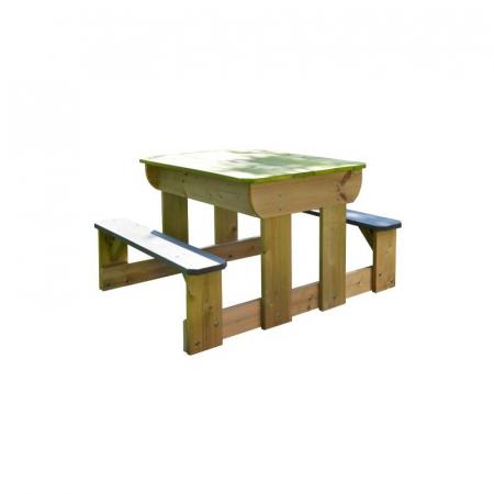 Masa de picnic senzoriala T2 Deluxe cu bancute si loc pentru nisip si apa [2]