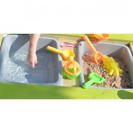 Masa de picnic senzoriala T2 Deluxe cu bancute si loc pentru nisip si apa [4]