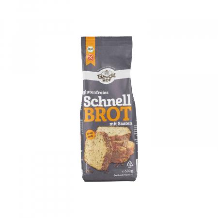 Mix de faina pentru paine rapida cu seminte FARA GLUTEN 500g [0]