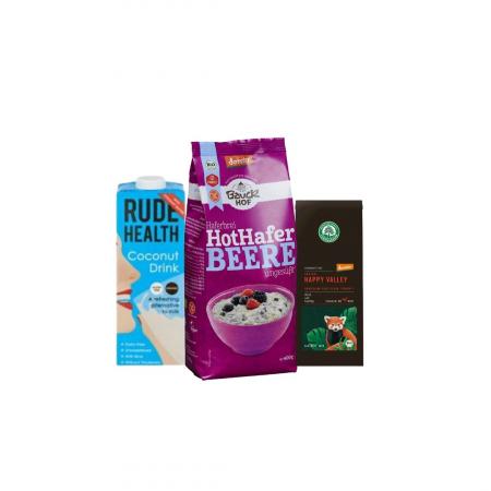 Pachet de alimente de post pentru mic dejun - porridge, lapte vegetal si un ceai negru aromat [0]